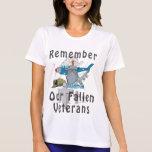 Recuerde el día de veterano camiseta