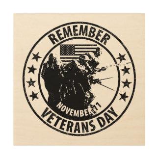 Recuerde el día de veteranos cuadro de madera