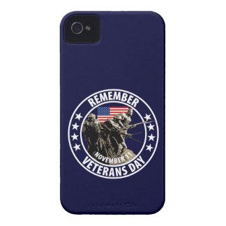 Recuerde el día de veteranos iPhone 4 funda