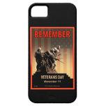 Recuerde el día de veteranos iPhone 5 protectores