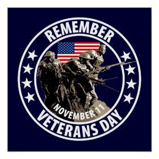 Recuerde el día de veteranos perfect poster