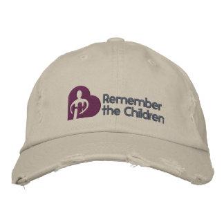 Recuerde el gorra básico de los niños gorro bordado