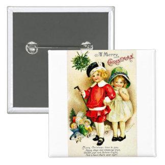 Recuerde el navidad pin cuadrada 5 cm