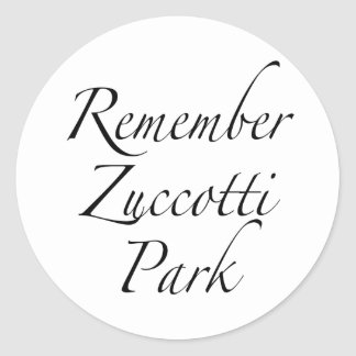 Recuerde el parque de Zuccotti para ocupar Pegatina Redonda