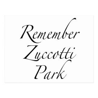 Recuerde el parque de Zuccotti para ocupar Tarjetas Postales