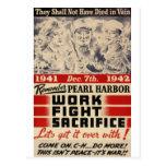 Recuerde el Pearl Harbor Tarjetas Postales