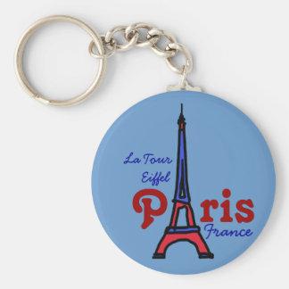 recuerde el viaje Eiffel del La Llavero Redondo Tipo Pin