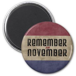 Recuerde en noviembre imán para frigorifico