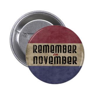 Recuerde en noviembre pin