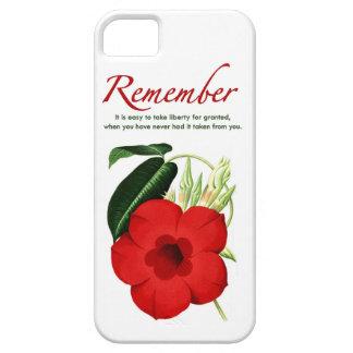 Recuerde. Es fácil tomar la libertad para concedid iPhone 5 Cárcasa