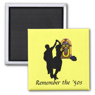 """""""Recuerde imán del refrigerador de los años 50"""""""