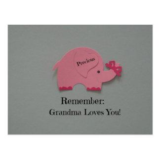 Recuerde: ¡La abuela le ama! Postal