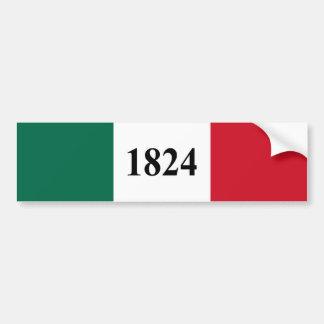 Recuerde la bandera del estado de Álamo Tejas Pegatina Para Auto