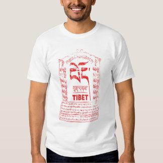 Recuerde la camisa roja del logotipo de Tíbet