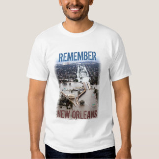 Recuerde la camiseta de New Orleans Playeras