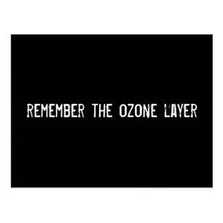 recuerde la capa de ozono postal