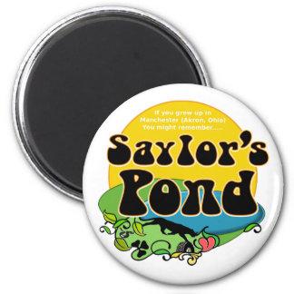 Recuerde la charca Manchester (Akron) Ohio de Sayl Imán Redondo 5 Cm