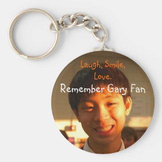 Recuerde la fan de Gary Llavero Personalizado