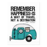 recuerde la felicidad tarjeta postal