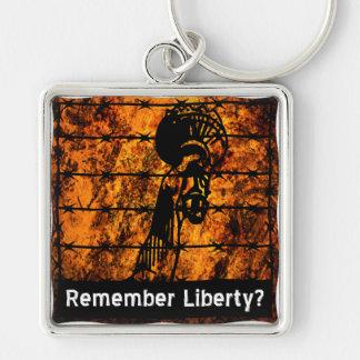 ¿Recuerde la libertad? Llavero Cuadrado Plateado
