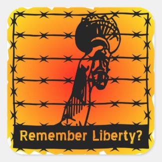 ¿Recuerde la libertad? Pegatina Cuadrada