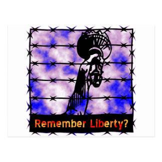 ¿Recuerde la libertad? Postal