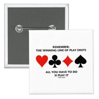 Recuerde: La línea que gana de juego existe todos  Pin