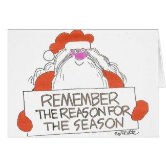 Recuerde la razón de la estación tarjeta de felicitación