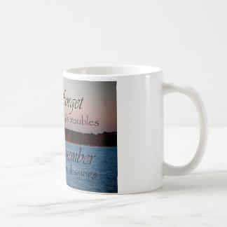 Recuerde la taza de la bendición del día