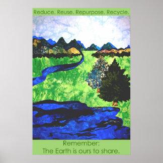 """""""Recuerde: La tierra es las nuestras para comparti Poster"""