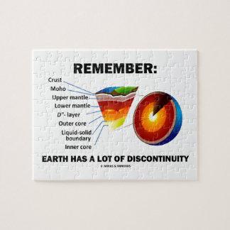 Recuerde: La tierra tiene mucha discontinuidad Puzzle