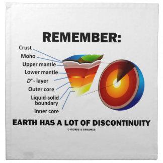 Recuerde: La tierra tiene mucha discontinuidad Servilletas Imprimidas