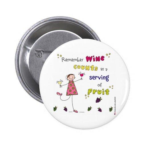 Recuerde las cuentas del vino como porción de la f pins