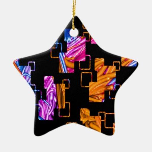 recuerde los años 60 y el 70s, retro anaranjado adorno de cerámica en forma de estrella
