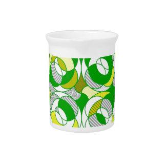 recuerde los años 70, modelo verde jarras de beber