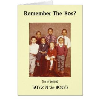 ¿Recuerde los años 80? Tarjeta de felicitación de