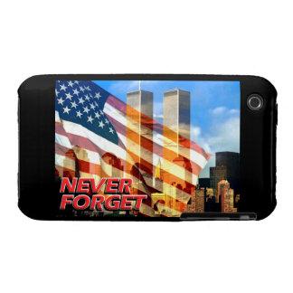 Recuerde los attentados terroristas del 11 de iPhone 3 Case-Mate carcasa