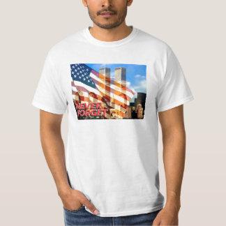 Recuerde los attentados terroristas del 11 de playera