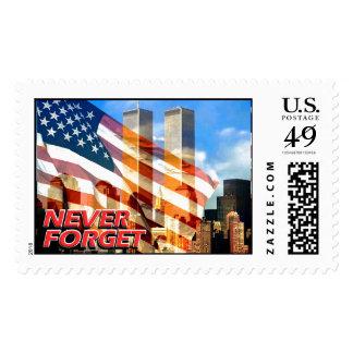 Recuerde los attentados terroristas del 11 de sellos