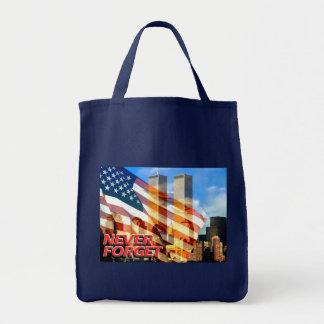 Recuerde los attentados terroristas del 11 de sept bolsas lienzo