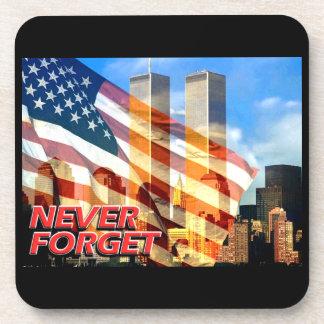 Recuerde los attentados terroristas del 11 de sept posavasos de bebida