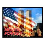 Recuerde los attentados terroristas del 11 de sept postal