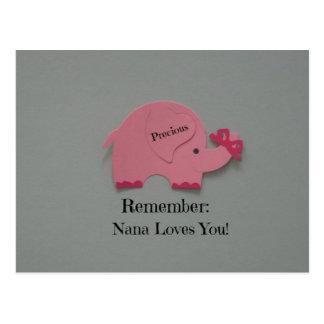 Recuerde: ¡Nana le ama! Tarjetas Postales