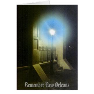 Recuerde New Orleans Lamposts Tarjeta De Felicitación