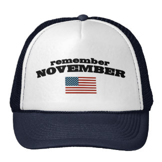 Recuerde noviembre América Gorros Bordados