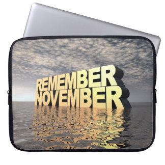 Recuerde noviembre fundas portátiles