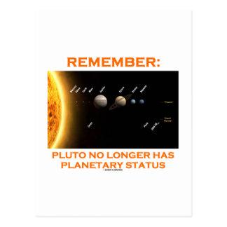 Recuerde: Plutón tiene no más situación planetaria Tarjetas Postales