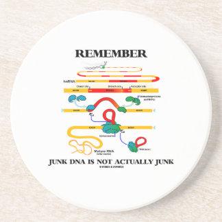 Recuerde que DNA de los desperdicios no son Posavasos Manualidades