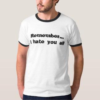 Recuerde que… le odio todo poleras
