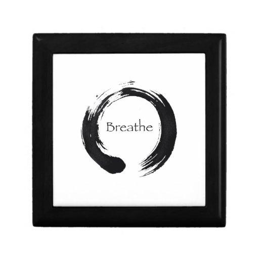 Recuerde respirar caja de regalo